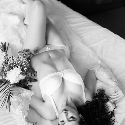 Bridal Boudoir Black & White
